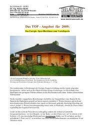 Das TOP - Angebot für 2009: - Blockhaus Barth
