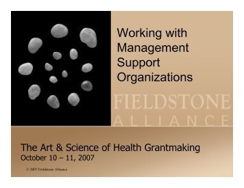 Working with Management Support Organizations - Grantmakers In ...