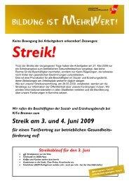 Streik am 3. und 4. Juni 2009 - GEW Bremen