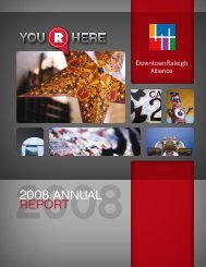 2008 ANNUAL REPORT - Downtown Raleigh Alliance