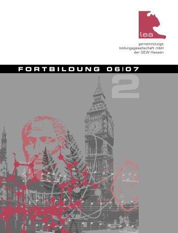 FORTBILDUNG 06|07 - Gew-da-land.de