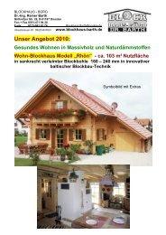 Unser Angebot 2010: Gesundes Wohnen in ... - Blockhaus Barth