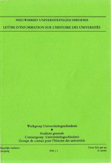 Jaargang / Année 2, 1996, nr. 1 - Gewina