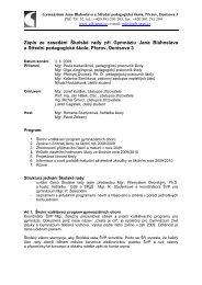 Zápis z jednání Školské rady ze dne 3. 6. 2009 - Gymnázium Jana ...