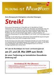 am 27. und 28. Mai 2009 zum Streik - GEW