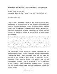 Deutsch plus. A Multi-Media Course for Beginners ... - GFL-Journal