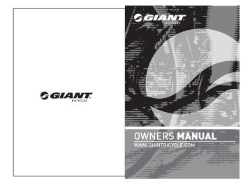 continuum 5 8 cycle computer giant bicycles rh yumpu com giant bicycle owner's manual version 11.0 giant bicycle owner's manual version 11.0