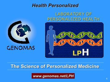 Science of Personalized Health with DNA-Guided Medical ...