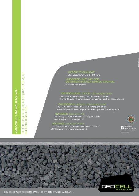 agb geocell - Geocell Schaumglas