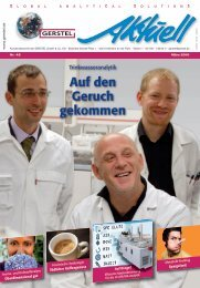 GERSTEL Aktuell Nr. 42 - Gerstel GmbH & Co.KG
