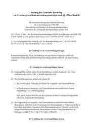 Satzung der Gemeinde Dornburg zur Erhebung von ...