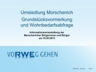 Die Grundstücksvormerkung Morschenich... - Gemeinde Merzenich