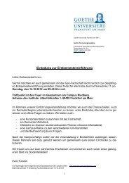 Einladung Studis - geostud. Das Portal für das Frankfurter ...