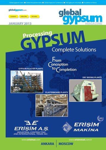 Global Gypsum Magazine - January 2013