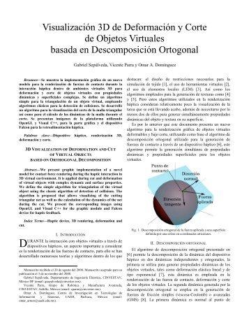 Visualización 3D de Deformación y Corte de Objetos Virtuales ...