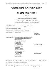 Gemeinderatssitzung vom 11.12.2012 - Langenbach