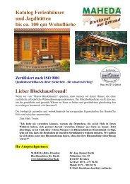 Katalog Ferienhäuser und Jagdhütten bis ca. 100 ... - Blockhaus Barth
