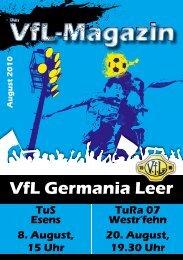 könnt Ihr das Stadionheft zum Spiel herunterladen - VfL Germania ...