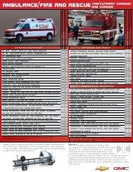 ambulance/fire and rescue - GM Fleet