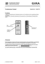Funkstrecken-Testset Art. Nr.: 356 00 - Gira