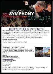 GROUPS SAVE BIG ON TICKETS! - Downtown Raleigh Alliance