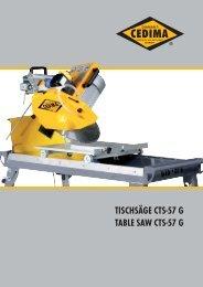 tischsäge cts-57 g table saw cts-57 g - CEDIMA GmbH