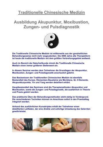 Traditionelle Chinesische Medizin Ausbildung Akupunktur ...