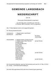 Gemeinderatssitzung vom 12.03.2013 - Langenbach