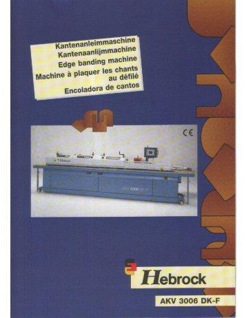 Page 1 Page 2 Maschinenbau Hebrock GmbH Ausstattung: 1. 2 ...