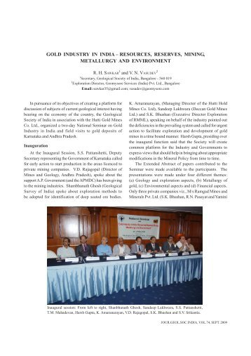 Abstract - Geological Society of India