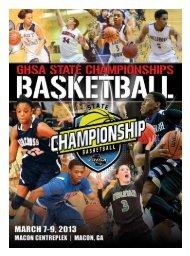 Championship Basketball Program - Georgia High School Association