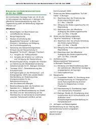 AM 22. JULI 2008 - Gemeinde Bisingen