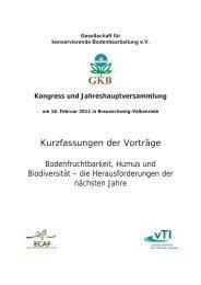 Kurzfassungen der Vorträge - bei der GKB eV