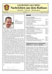 2. Jahrgang - Ausgabe v. 09.11.2006 - Gemeinde Gilching