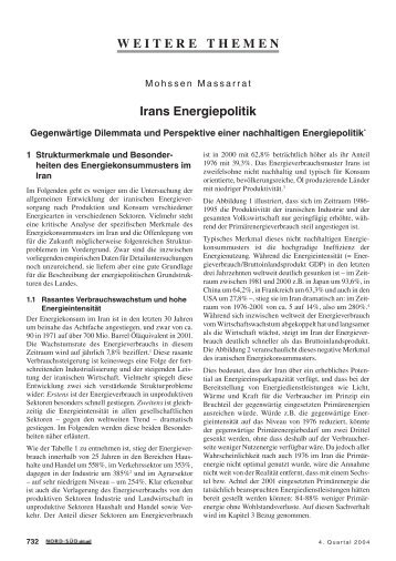 Irans Energiepolitik - GIGA German Institute of Global and Area ...