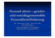 Gesund altern – gender- und soziallagensensible ...