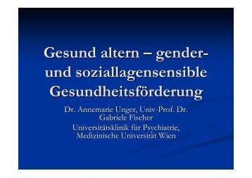 Gesund altern – gender- und soziallagensensible ...