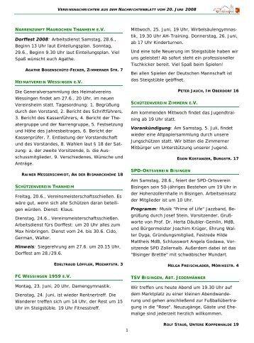 Muster Vereinsnachrichten.pub - Gemeinde Bisingen