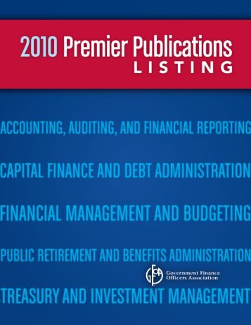 Accounting, Auditing and - Government Finance Officers Association