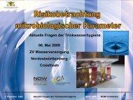 Risikobetrachtung mikrobiologischer Parameter; Dr. J. Fleischer ...