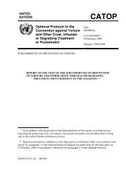 Report on the Visit of the Subcommittee on the Prevention of Torture ...