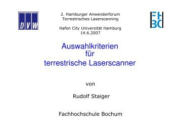 Auswahlkriterien für terrestrische Laserscanner - Geomatik-hamburg ...