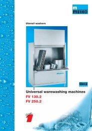 FV 130.2 FV 250.2 Universal warewashing machines - GoHospitality
