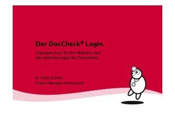 Der Doccheck® Login.