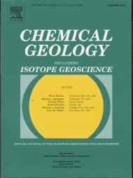 ISOTOPE GEOSCIENCE - University of Michigan