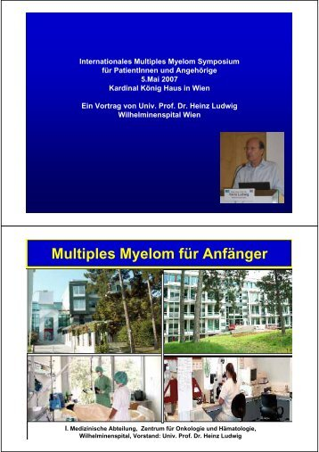 Multiples Myelom für Anfänger