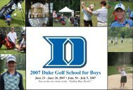 2007 Duke Golf School for Boys - Duke University Athletics