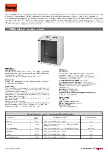 "19"" EUROLINE wall mounting cabinets"