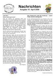 Nachrichten Ausgabe 10 - April 2009 - GGS-Overath