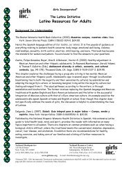 The Latina Initiative: Resources for Adults - Girls Inc.
